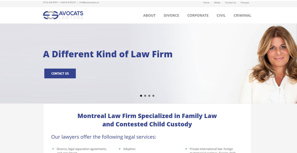 sos avocats portfolio website